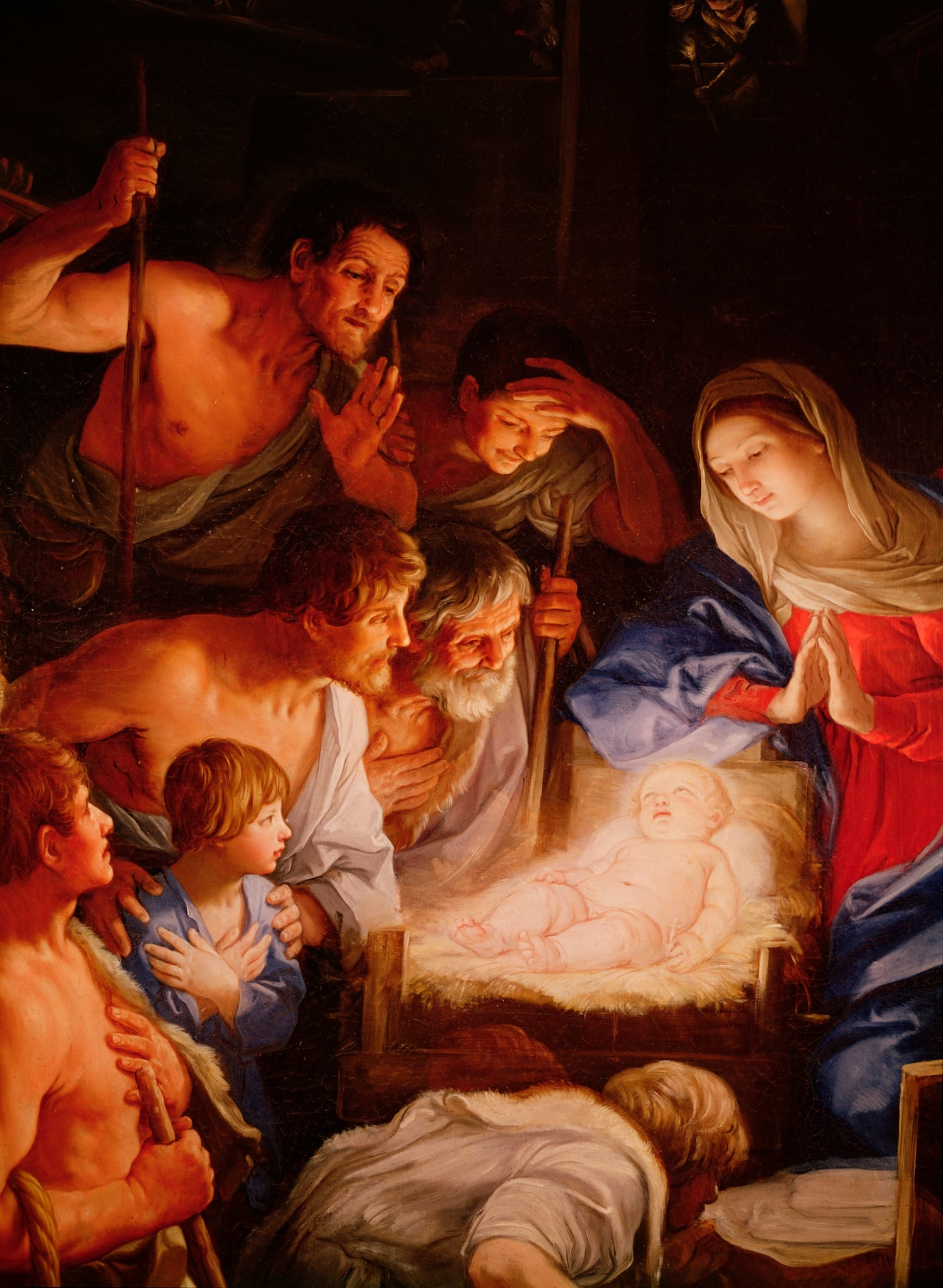 the adoration of the shepherds reni 1640